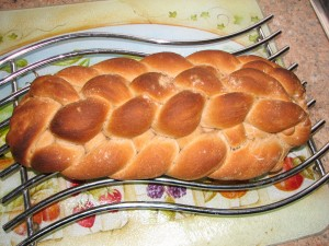 First attempt at Paul Hollywood's 8 plait loaf - I'm happy with the result!